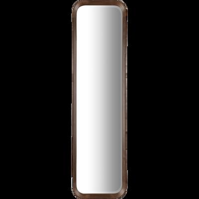 Miroir rectangulaire en bois de noyer 123x33 cm-DUO