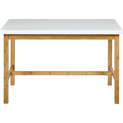 Table haute rectangulaire blanche - L120cm-BULUH