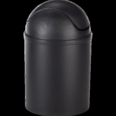 Poubelle de salle de bains 5L noire-SOFT