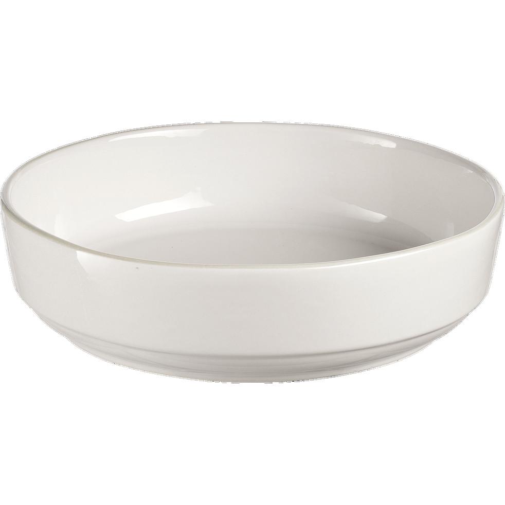 Saladier en faïence blanc ventoux D24cm-LANKA