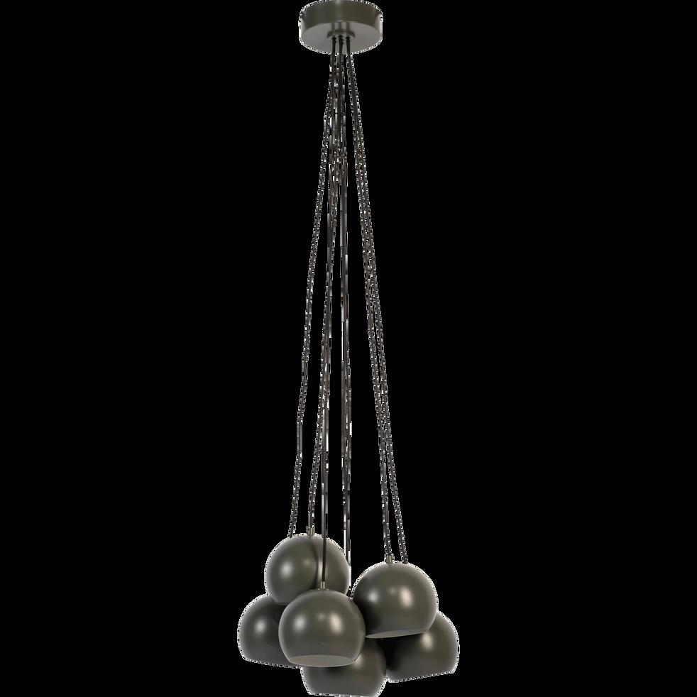 Suspension en métal vert 7xD18cm-BALL