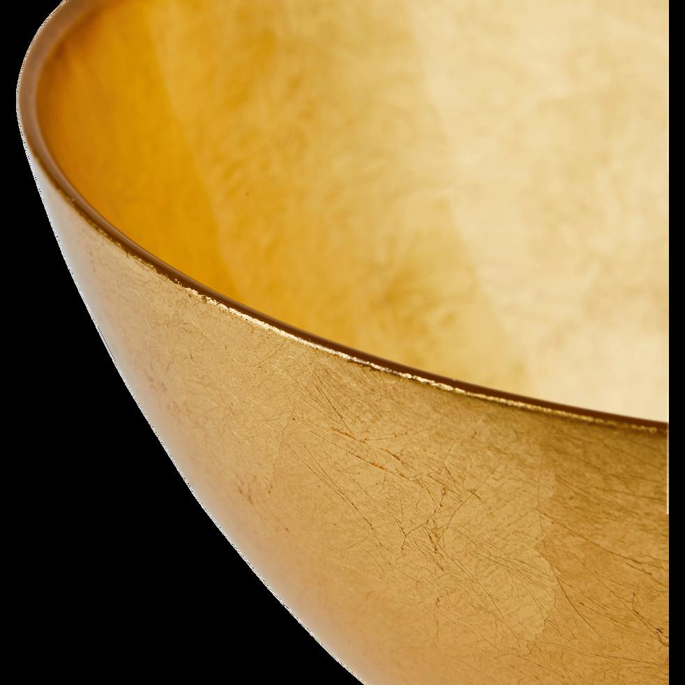 Saladier en verre doré D22cm-ESMA