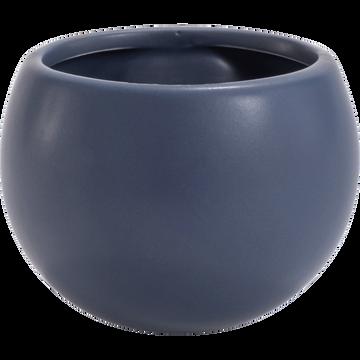 Cache-pot en céramique - bleu myrte - H10xD6cm-mai