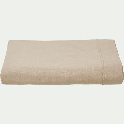 Drap plat en coton - beige alpilles 180x290cm-CALANQUES