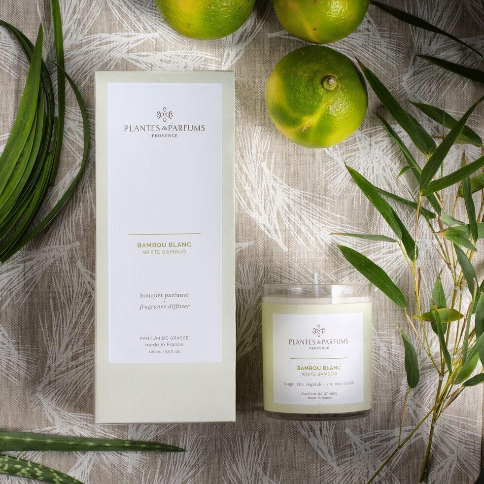 Bougie parfumée senteur Bambou Blanc 180g-MANON