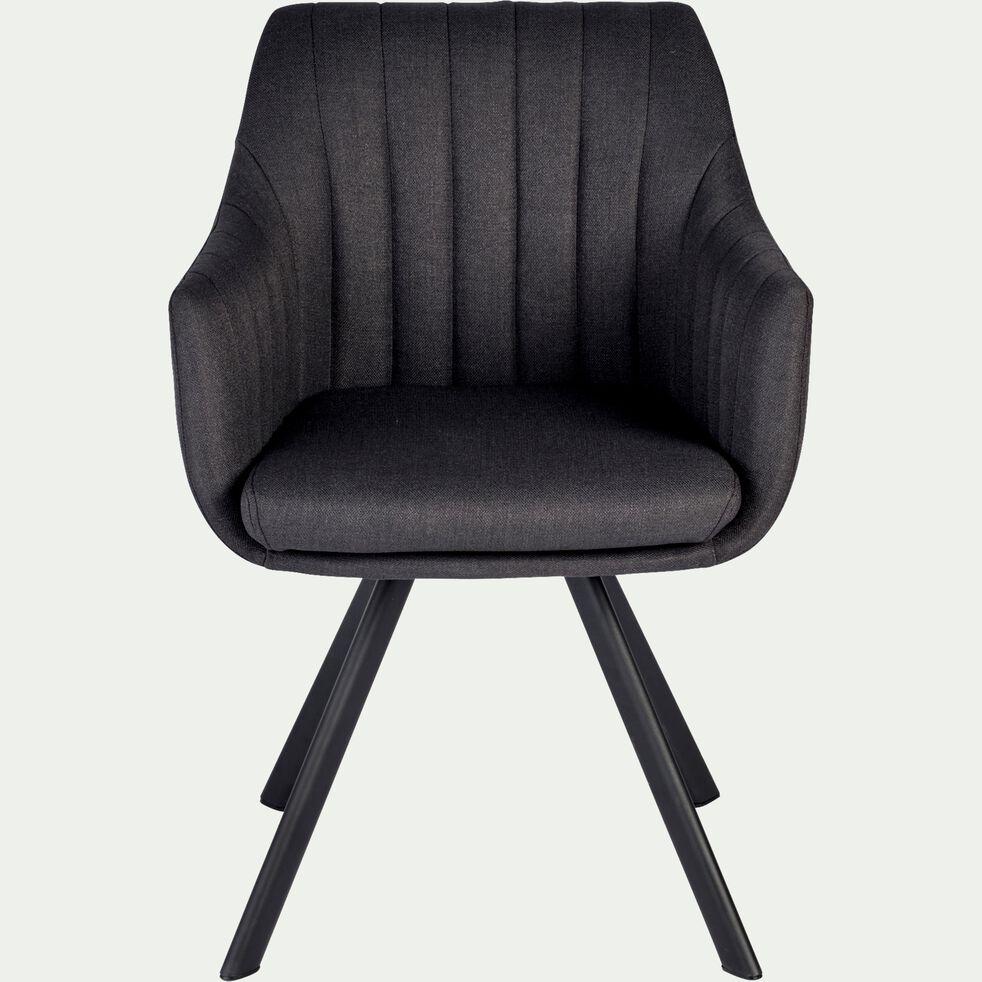 Chaise en tissu - gris restanque-OLBIA