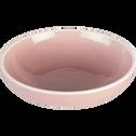 Assiette creuse en faïence rose D16cm-CAMELIA