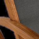Fauteuil de jardin à bascule en acacia-BRIANDE