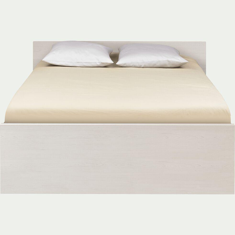 Lit 2 places avec tête de lit & tiroirs cerisier blanchi - 160x200 cm-BROOKLYN
