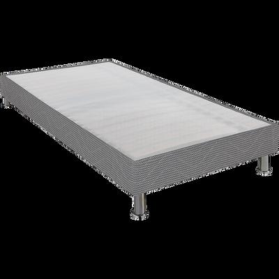 Sommier tapissier Alinéa 15 cm Gris - 90x200 cm-DECOCONFORT