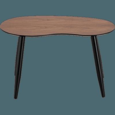 Table basse plaquée noyer-ECTOT