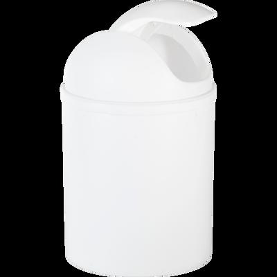 Poubelle de salle de bains 5L blanche-SOFT