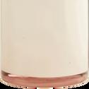 Bouteille en verre rose D10cm-FENDI