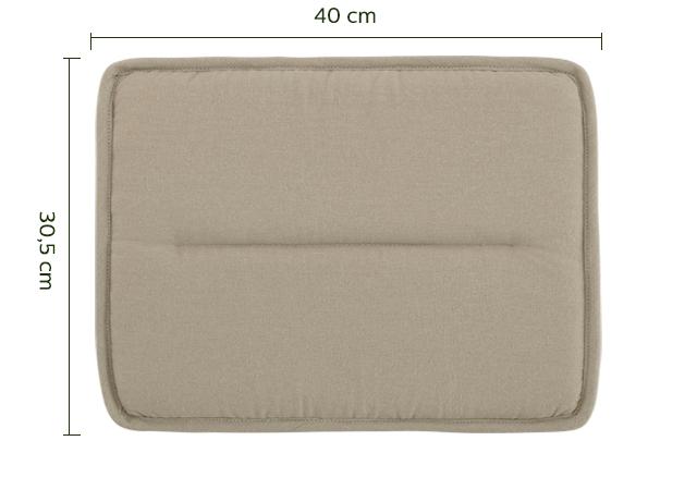 Galette de chaise rectangulaire vert olivier-CERVIONE