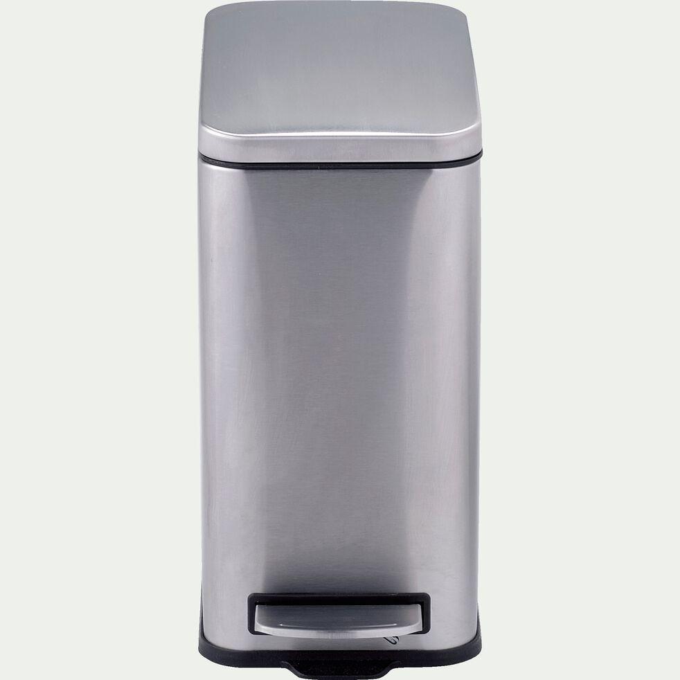 Poubelle en acier - gris 10L-KOA