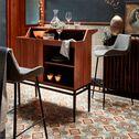 Bar vintage plaqué noyer-ELIOTT