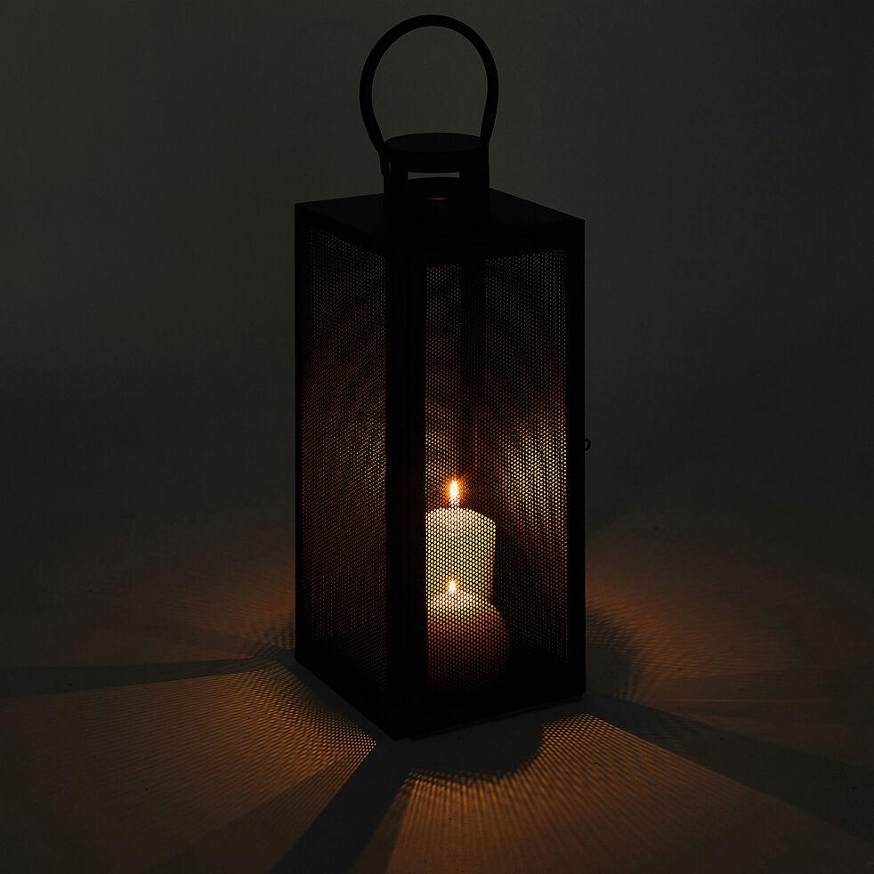 Lanterne en métal - noir - H40cm-ZADIG