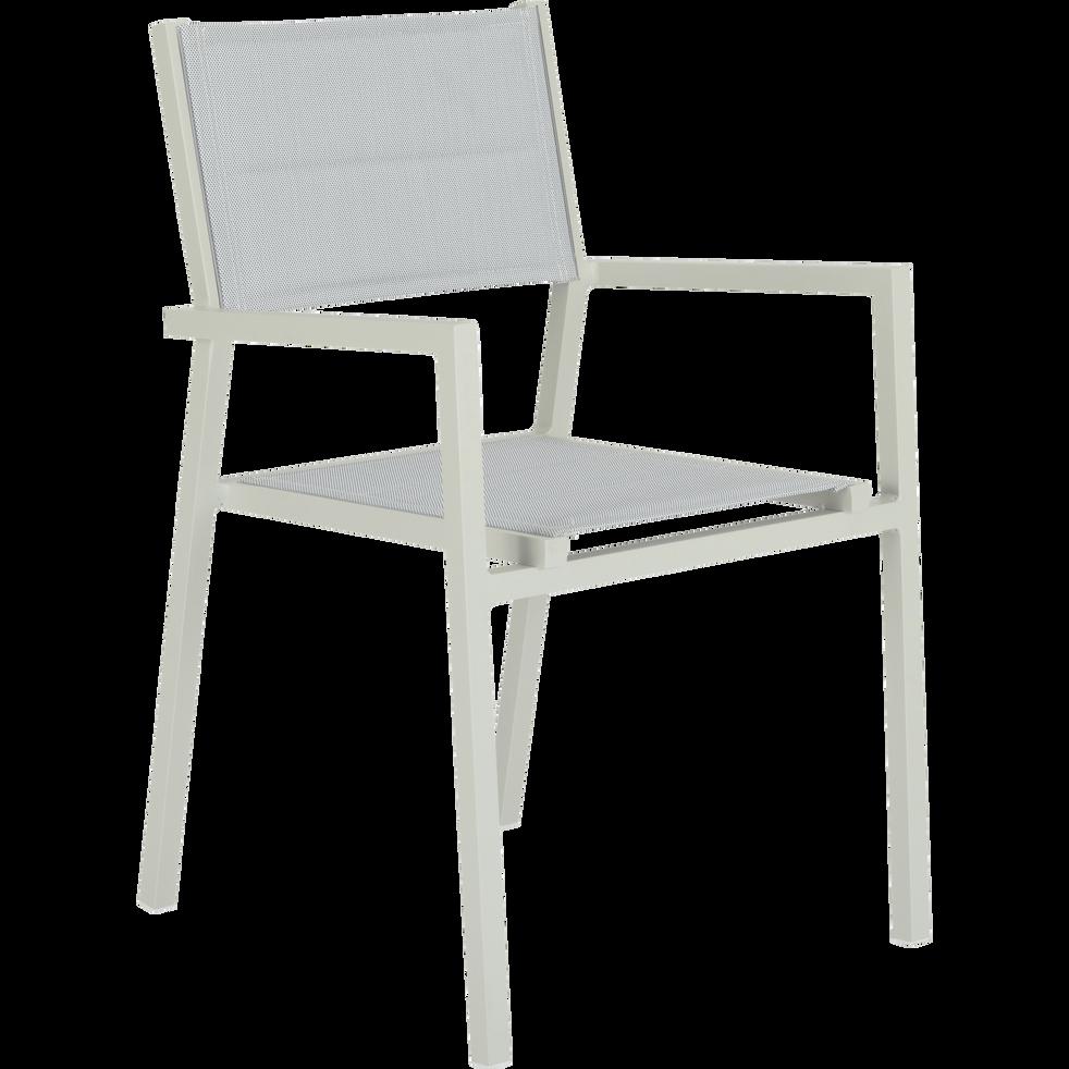 chaise de jardin empilable en aluminium blanc loreto. Black Bedroom Furniture Sets. Home Design Ideas