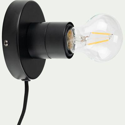 Applique en métal - noir D10cm-ORSAY