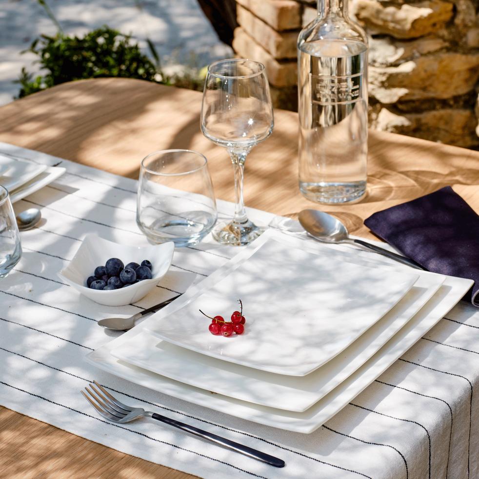 Assiette de présentation en porcelaine qualité hôtelière-Queen