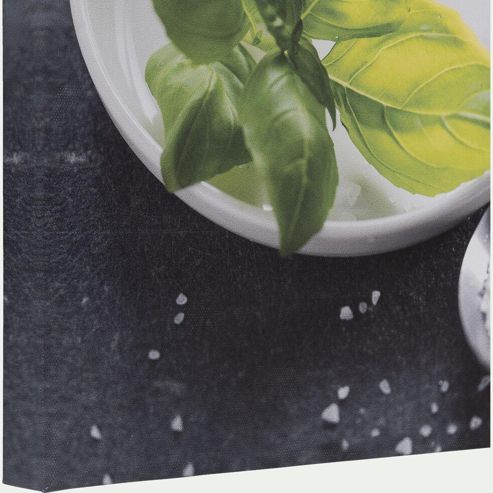Toile imprimée basilic 30x30 cm-COUST