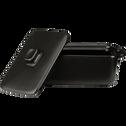 Mini cocotte rectangulaire en grès noir 16cm-MIOU