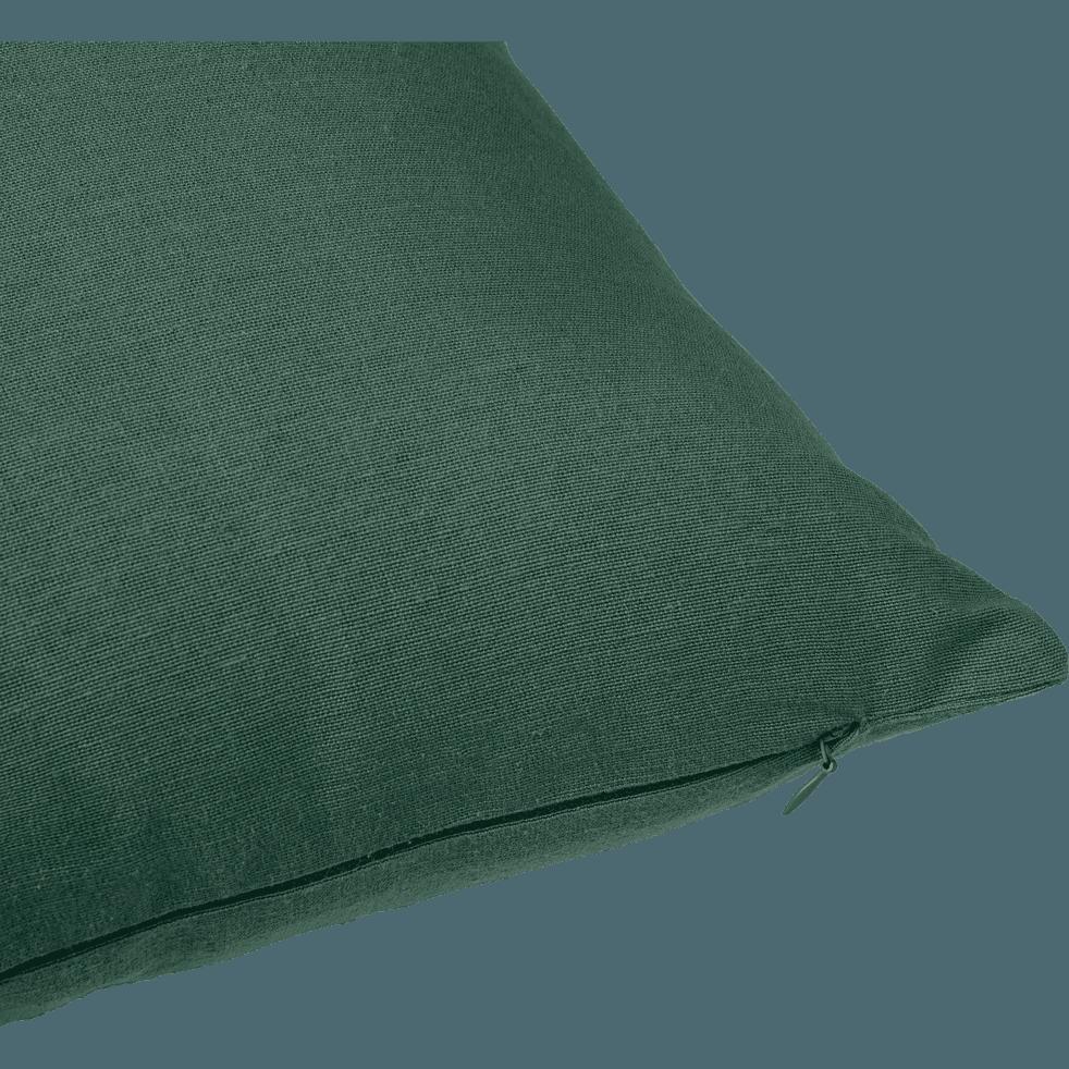 Coussin de sol en coton vert cèdre 70x70cm-CALANQUES