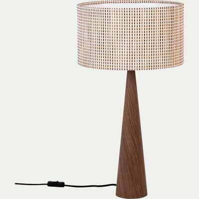Lampe à poser en bois H65cm-KONE