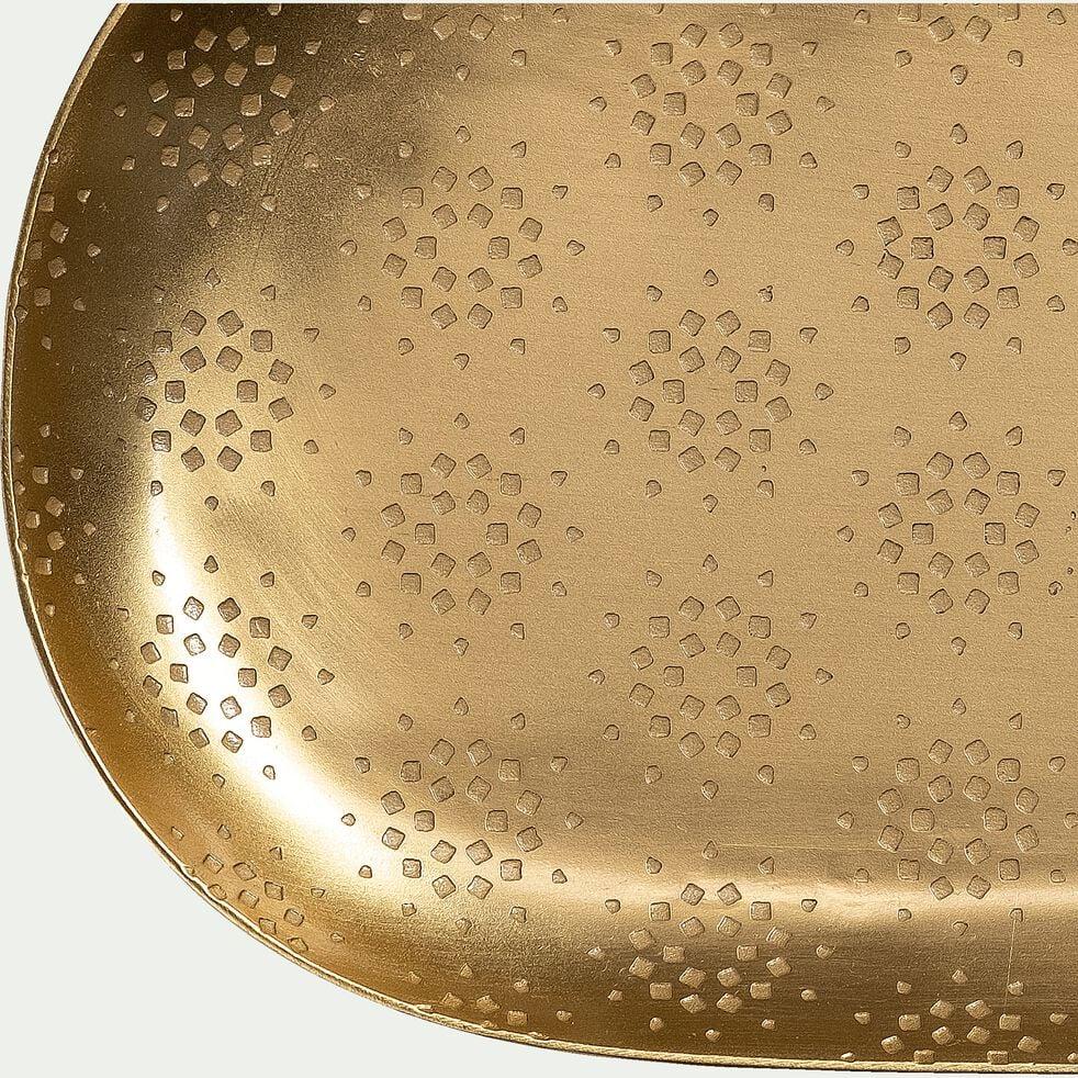 Plateau ovale en fer - cuivré 28x10cm-ALWAR