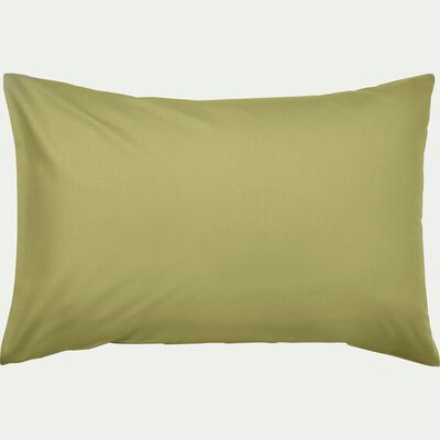 Lot de 2 taies d'oreiller en coton - vert garrigue 50x70cm-CALANQUES