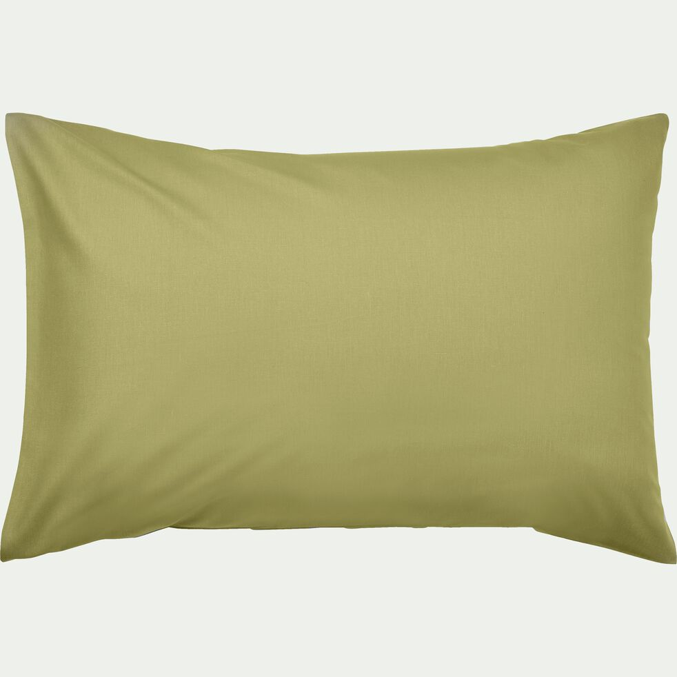 Lot de 2 taies d'oreiller en coton Vert guarrigue 50x70cm-CALANQUES