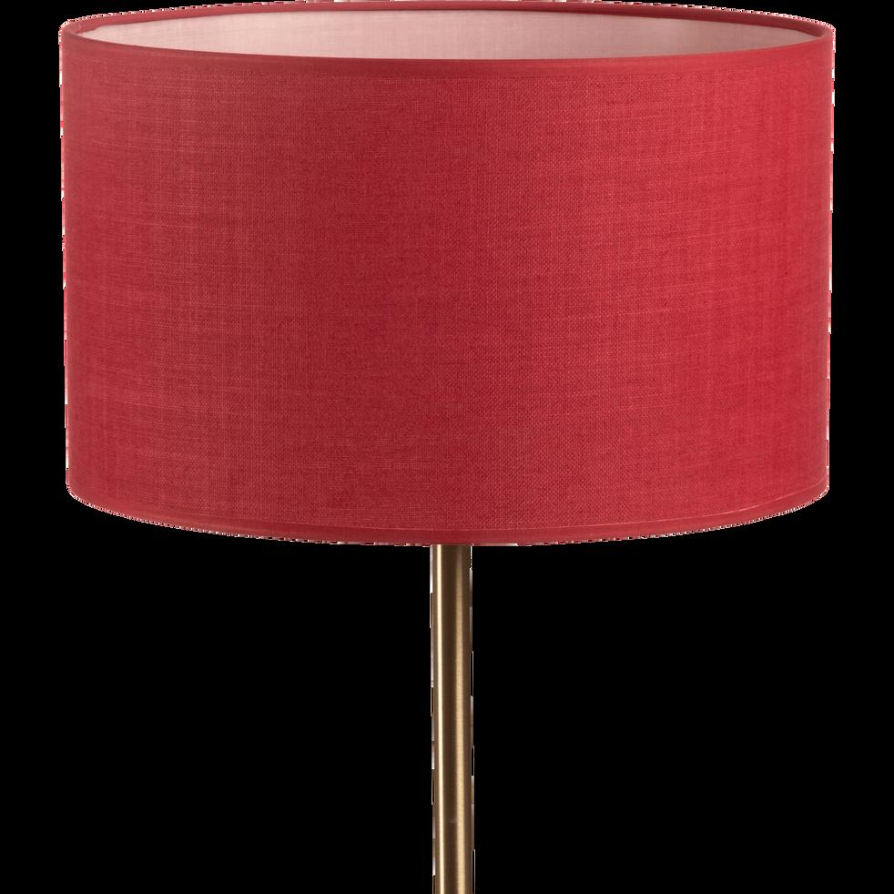 Abat-jour en tissu rouge arbouse D30cm-MISTRAL