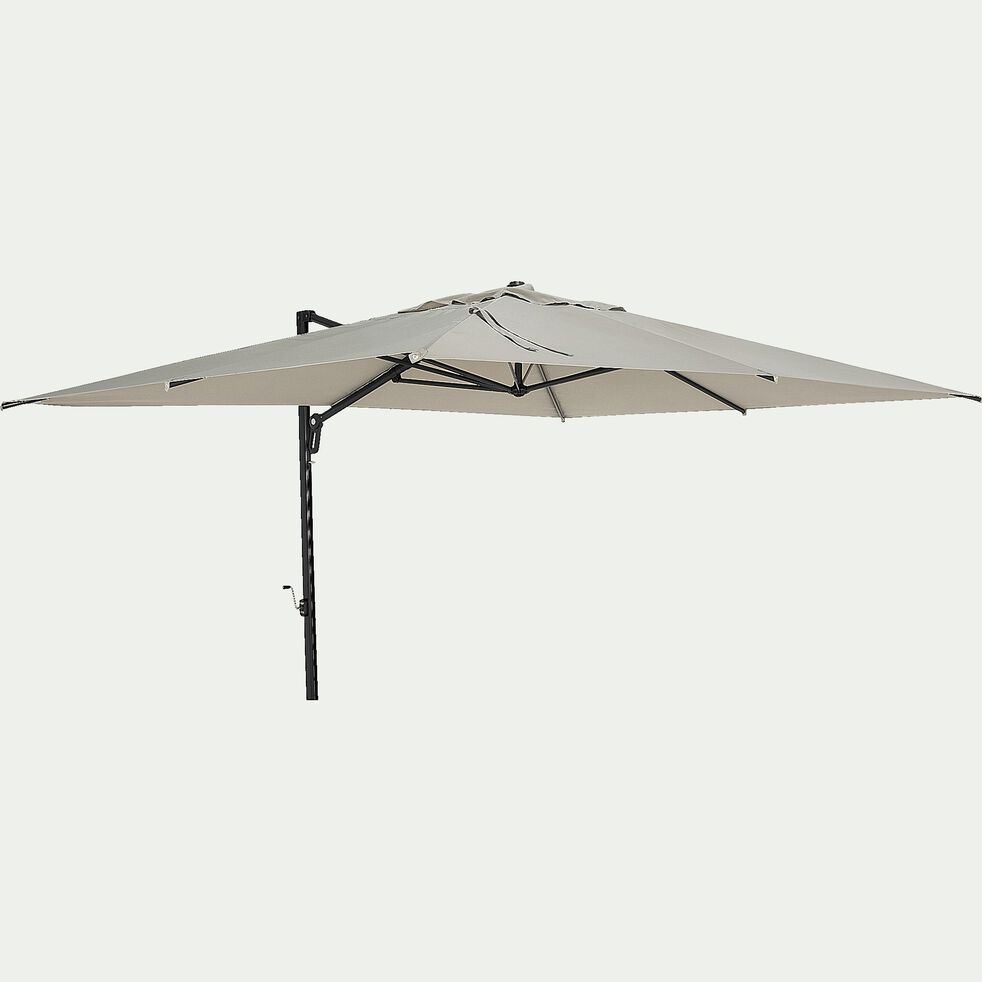 Parasol déporté rotatif - vert olivier 400x300cm-Acana