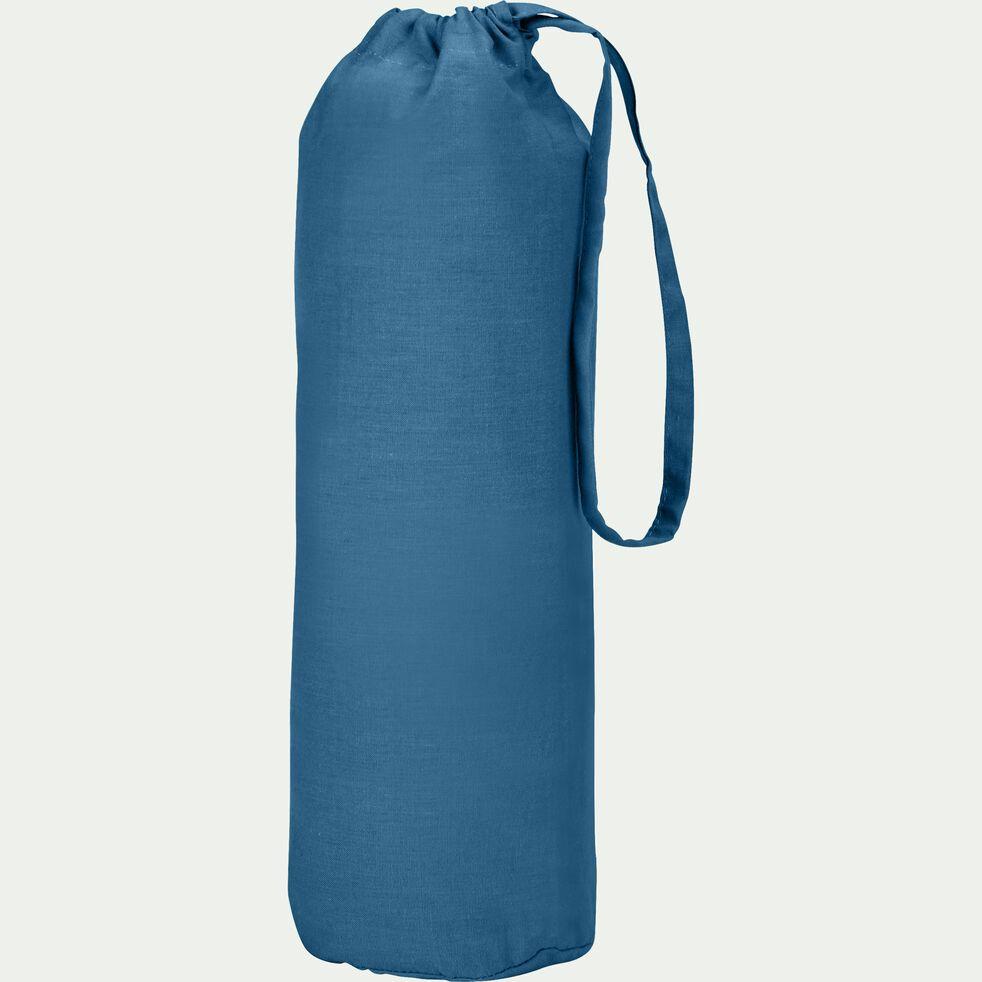 Drap housse en coton - bleu figuerolles 140x200cm B30cm-CALANQUES