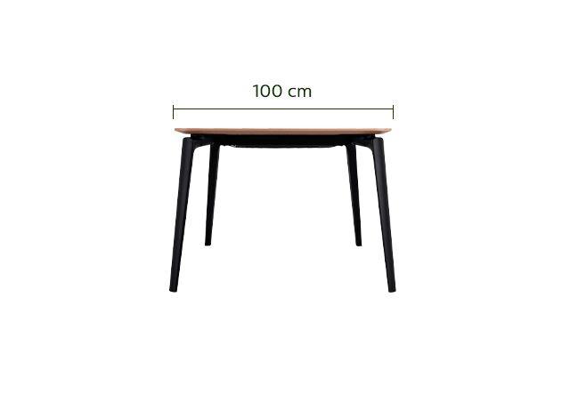 Table de repas extensible plaquée chêne - 6 à 12 places-CALLISTINE