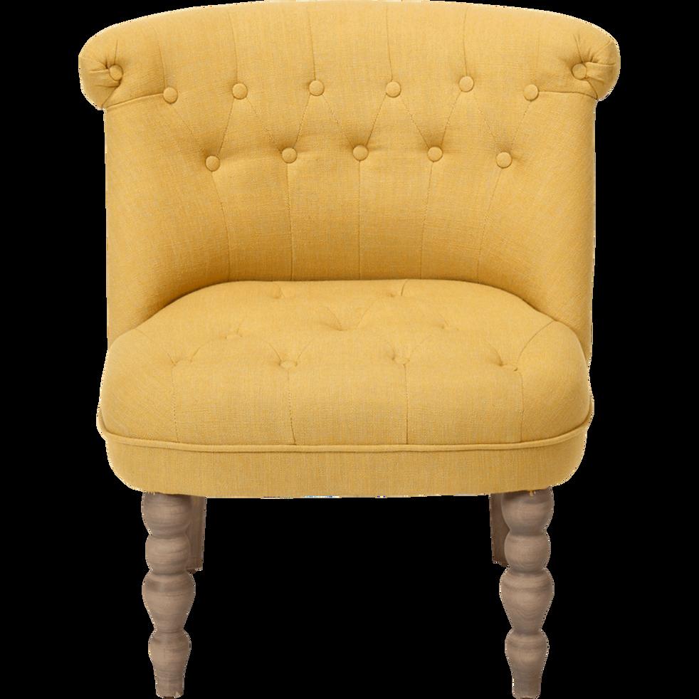 Fauteuil Jaune Alinea : fauteuil en tissu jaune chanteloup fauteuils et poufs alinea ~ Teatrodelosmanantiales.com Idées de Décoration