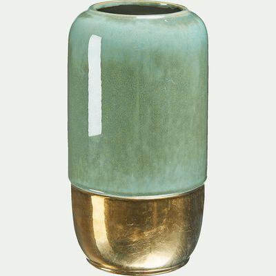 Vase en céramique vert H27,5cm-Calookan