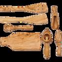 Spatule galbée trouée en bois d'olivier L30.5cm-OLIVIA