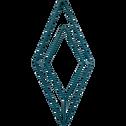 Patère en métal bleu 1 emplacement L11xl4xH24cm-PACHA