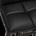 Chaise de bar pivotante en simili noir - H66cm-AGATHE