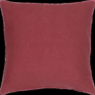 Coussin en coton rouge 40x40cm-CALANQUES
