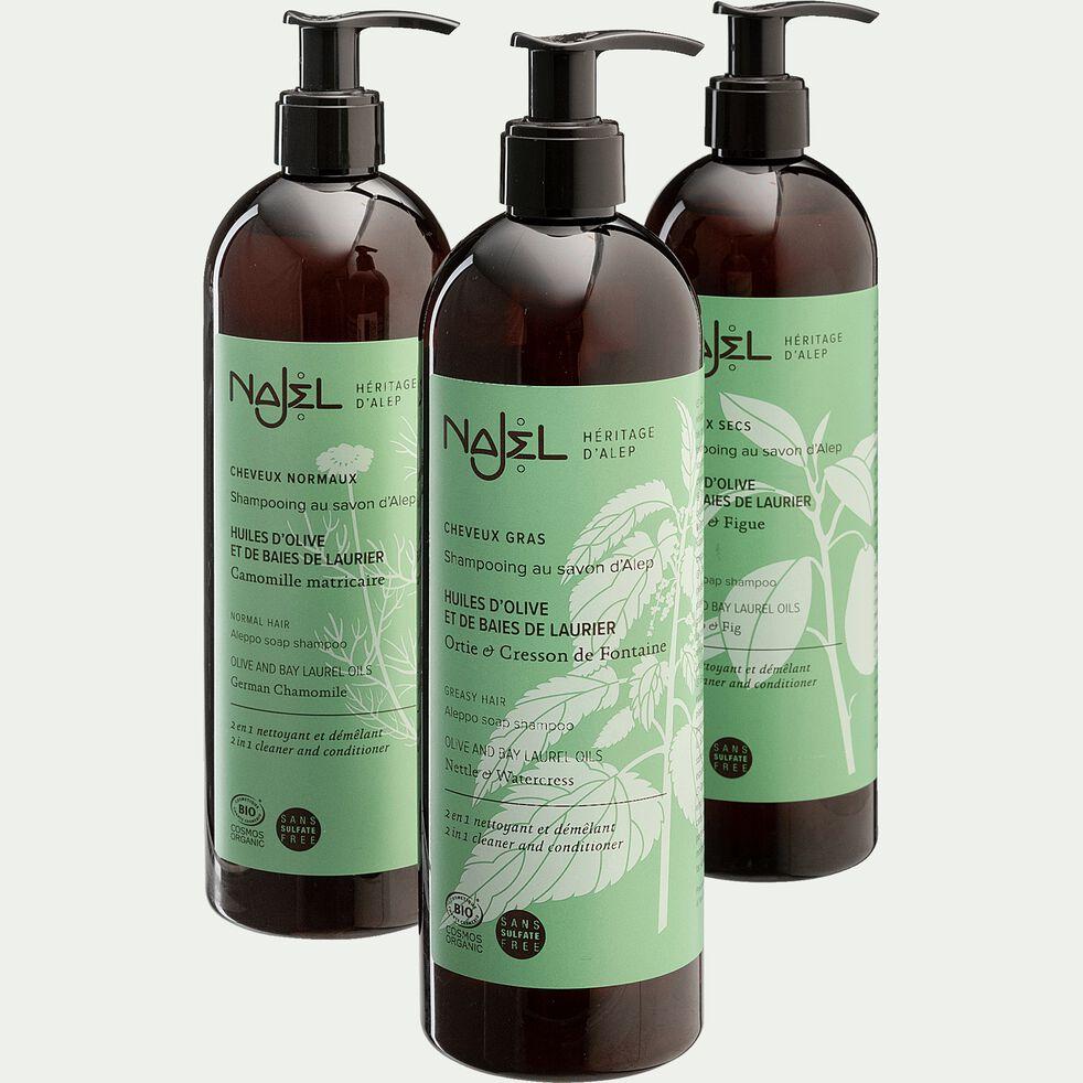 Shampoing 2 en 1 bio au savon d'Alep pour cheveux normaux 500ml-LAMIA