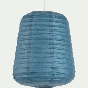 Suspension ovale en papier - bleu autan D27xH32cm-ALOU