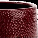 Pot en céramique rouge azerole (plusieurs tailles)-Gizia