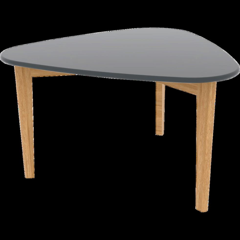 table basse triangulaire grise avec pieds en ch ne siwa tables basses alinea. Black Bedroom Furniture Sets. Home Design Ideas