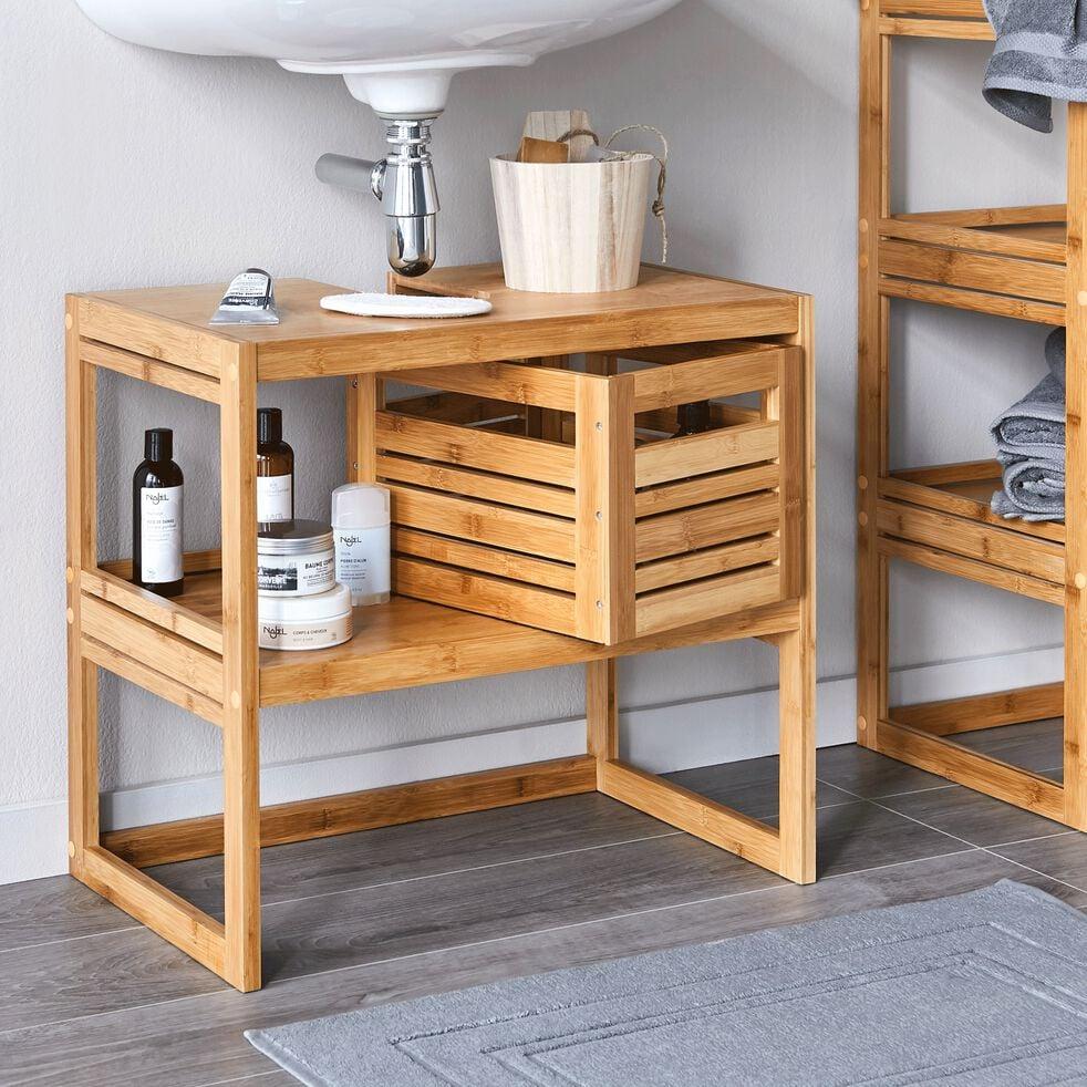 danong meuble de salle de bains en bambou 60cm