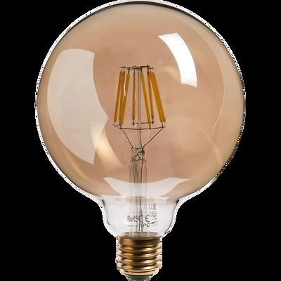 Ampoule décorative LED grise D12,5cm culot E27-DECO