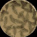 Assiette à dessert en porcelaine vert olivier décorée D19cm-PIN D'ALEP
