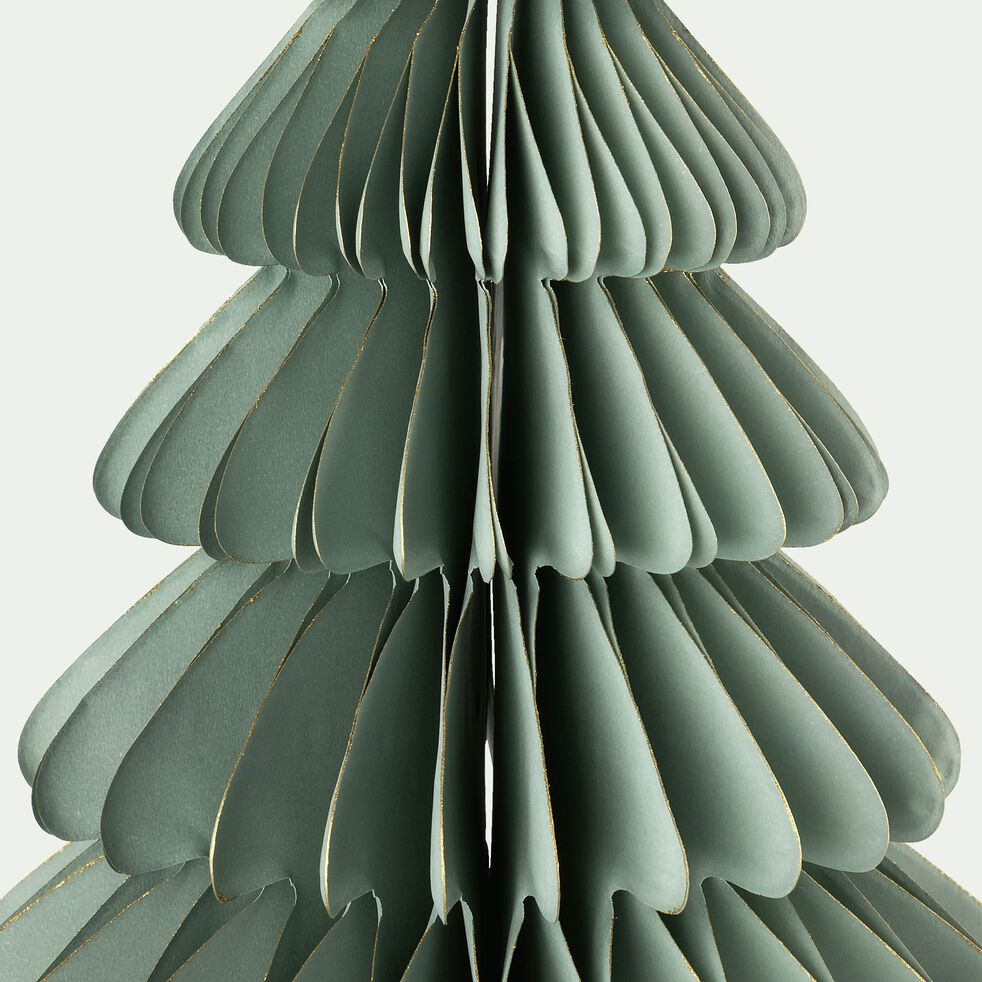 Sapin en papier - D14xH20cm bleu clair-ALPILLES