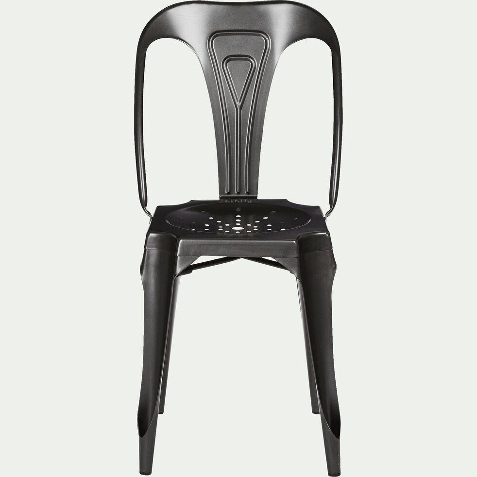 Chaises Alinea Salle A Manger indus - chaise en métal gris anthracite